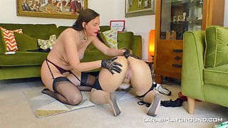 Big exasperation matures are having fun in a lezzie home fake