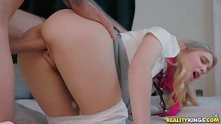 Anastasia Knight fucked far the pussy added to jizzed on her soft lips