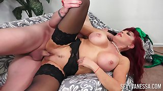 Mature with perfect forms, daffy anal with a young dude